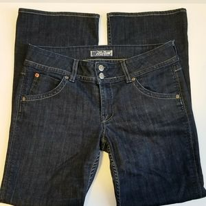 HUDSON JEANS DARK WASH FLAP POCKET BOOT CUT 31